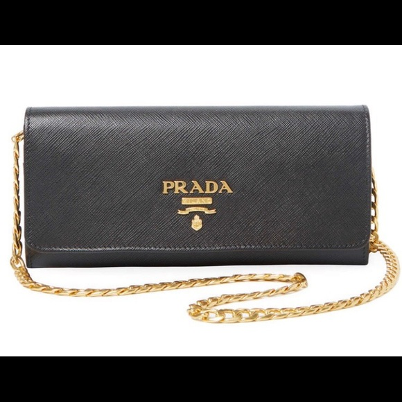 d049697cbe4d Prada Bags | Small Saffiano Wallet On A Chain | Poshmark